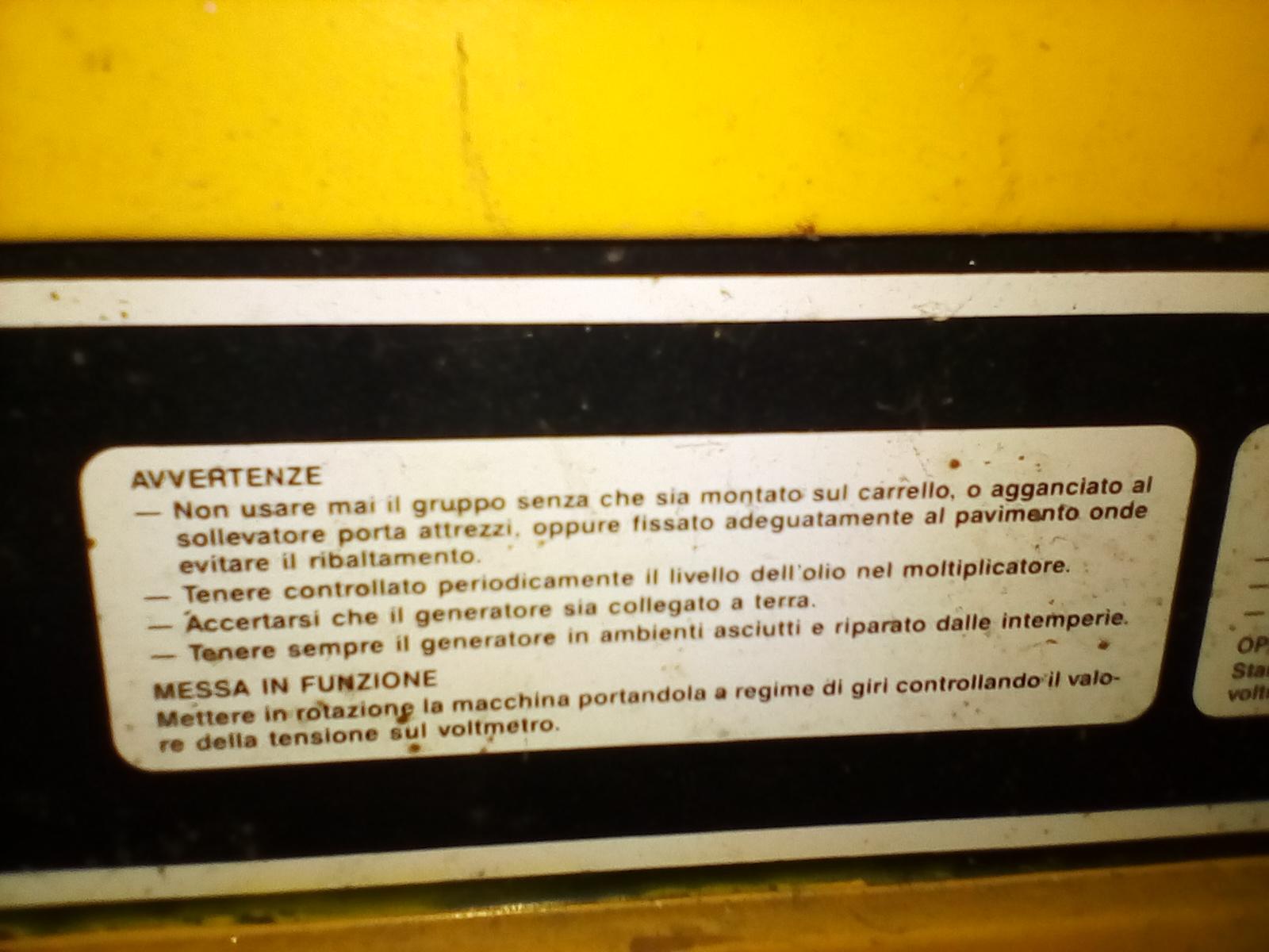 Generatore da collegare al trattore in vendita - foto 3